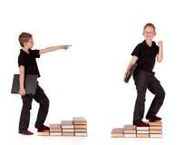 компьтер-книжка ребенка представляет различных детенышей Стоковое Фото