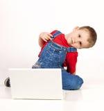 компьтер-книжка ребенка Стоковая Фотография RF