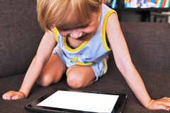 компьтер-книжка ребенка стоковое фото rf