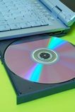 компьтер-книжка dvd Стоковые Фото