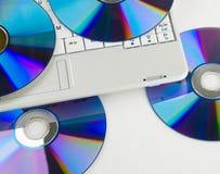 компьтер-книжка dvd Стоковые Изображения RF