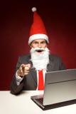 компьтер-книжка santa Стоковое Фото