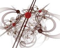 Компьютерная графика: Мраморы на линиях и кривые с цветками стоковые изображения