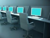 компьютерная комната бесплатная иллюстрация