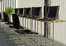 компьютерная комната Стоковые Фотографии RF