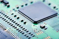 Компьютерная микросхема и монтажная плата Стоковое Изображение RF