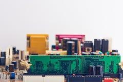 Компьютерная память установленная на материнскую плату Стоковые Фотографии RF