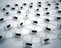 Компьютерная сеть дела Стоковое Фото