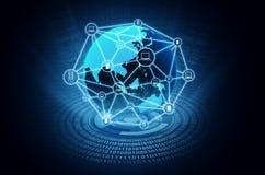 Компьютерная сеть интернета Стоковые Изображения
