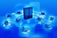 Компьютерная сеть и связь интернета Стоковые Фото