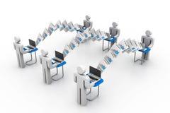 Компьютерная сеть с обменом данными Стоковое Изображение