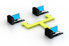 Компьютерная сеть Стоковое фото RF