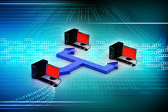 Компьютерная сеть Стоковое Изображение