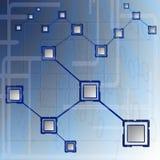 компьютерная сеть bbusiness Иллюстрация штока