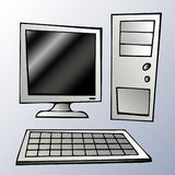 компьютерная система Стоковые Изображения RF