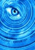 компьютерная технология абстракции голубая Стоковая Фотография RF