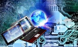 Компьютерная технология глобализации Связь стоковые изображения rf