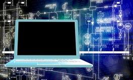 Компьютерная технология инженерства Стоковое фото RF