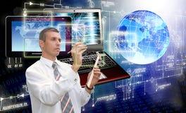 Компьютерная технология поколения новая соединение Стоковое фото RF