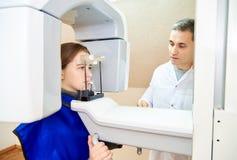 Компьютерная томография зубов стоковое изображение