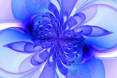 Компьютерная фракталь с цветком Стоковое Изображение
