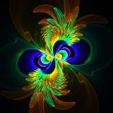 Компьютерное изображение фрактали с цветком Стоковое Изображение