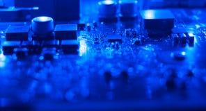 Компьютерное оборудование электроники материнской платы Стоковая Фотография