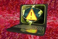 Компьютерный вирус, схематическое изображение бесплатная иллюстрация
