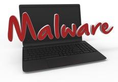Компьютерный вирус - Malware Стоковые Изображения