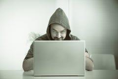 Компьютерный хакер Стоковое фото RF