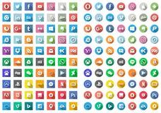 70 компьютеров и вектор значков интернета стоковое изображение