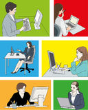 Компьютеры женщины бесплатная иллюстрация