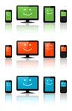 Компьютеры, таблетки и телефоны Стоковая Фотография
