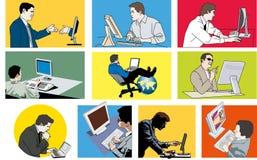 Компьютеры человека иллюстрация вектора