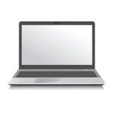 компьютер вектора технологии компьтер-книжки белый Стоковая Фотография