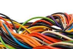 компьютер кабеля пестротканый Стоковое Фото