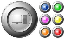 Компьютер кнопки сферы иллюстрация вектора