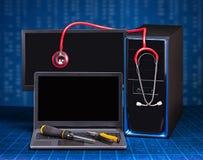 Компьютер компьтер-книжки и ПК Стоковое Изображение RF