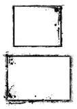 Компьютер конструировал границу grunge иллюстрация вектора