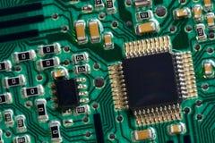 компьютер конца цепи доски вверх стоковая фотография rf