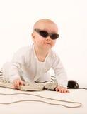 компьютер младенца Стоковые Изображения