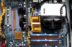 Компьютер, монтажная плата Стоковая Фотография