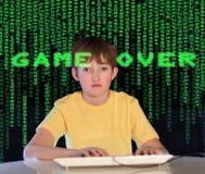 компьютер наркомании Стоковая Фотография RF
