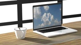 Компьютер на работе Стоковые Изображения