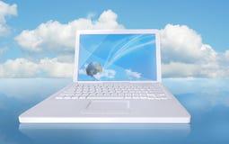 компьютер облака Стоковое Изображение RF