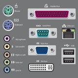 Компьютер переносит тип Стоковые Изображения RF