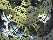 Компьютер представил виртуальный пейзаж ландшафта Стоковое Изображение