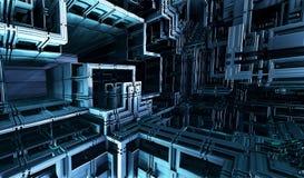 Компьютер представил виртуальный пейзаж Стоковые Изображения RF