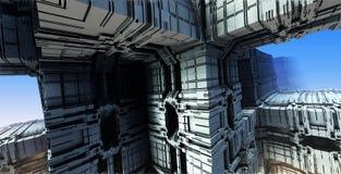 Компьютер представил виртуальный пейзаж Стоковые Изображения