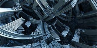Компьютер представил виртуальный пейзаж Стоковое Изображение RF